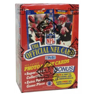 1989 Pro Set Series 1 Football Unopened Wax Box BBCE Sealed Wrapped – 36 Packs