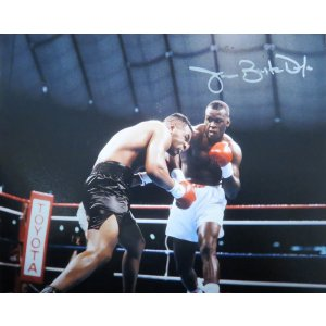 James Buster Douglas Signed Boxing Puching Mike Tyson 8×10 Photo