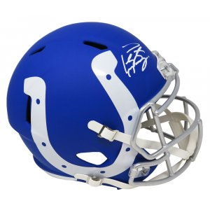 Peyton Manning Signed Indianapolis Colts AMP Alternate Series Riddell Full Size Speed Replica Helmet