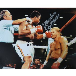 Ray Mercer Signed Boxing Action vs Tommy Morrison 8×10 Photo w/Merciless