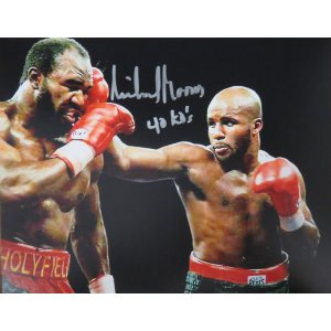 Michael Moorer Signed Boxing Puching Evander Holyfield 8×10 Photo w/40 KO's