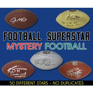 Schwartz Sports Football Superstar Signed Mystery Full Size Football – Series 23 (Limited to 50)