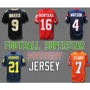 Schwartz Sports Football Superstar Signed Mystery Football Jersey – Series 32 – (Limited to 50)