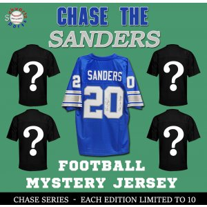 Chase Series 1 Signed Football Jersey Mystery- CHASE THE BARRY SANDERS Edition