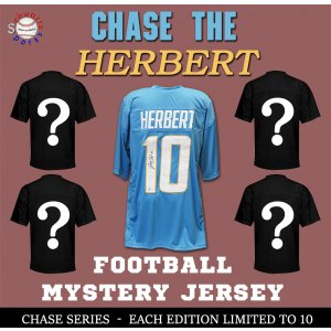 Chase Series 1 Signed Football Jersey Mystery- CHASE THE JUSTIN HERBERT Edition