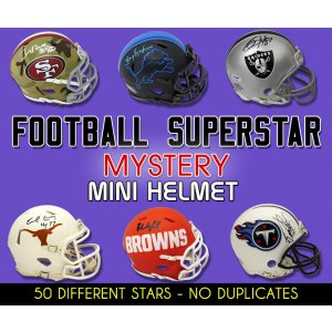 Schwartz Sports Football Superstar Signed Mystery Mini Helmet – Series 26 – (Limited to 50)