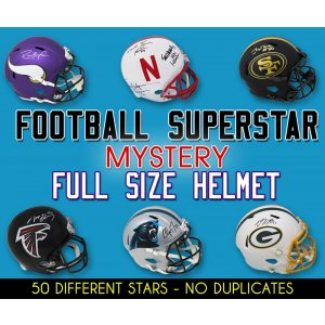 Schwartz Sports Football Superstar Signed Mystery Full Size Football Helmet – Series 18 (Limited to 50)