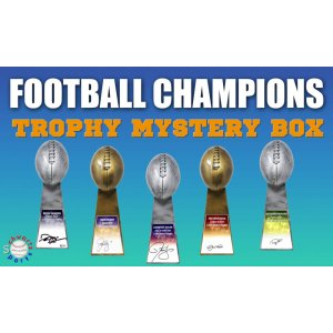 Schwartz Sports – Football Champions Signed Mystery Football Trophy – Series 5 (Limited to 50)