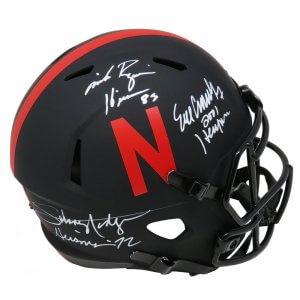 Johnny Rodgers, Mike Rozier & Eric Crouch Signed Nebraska Eclipse Riddell Full Size Speed Replica Helmet w/HT YRs