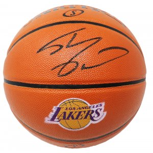 Shaquille O'Neal Signed Spalding Los Angeles Lakers Logo Game Series Replica NBA Basketball