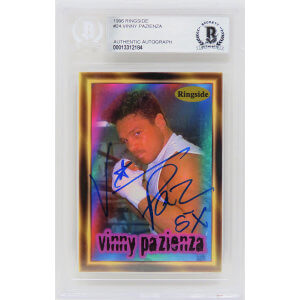 Vinny 'Paz' Pazienza Signed 1996 Ringside Boxing Trading Card #24 w/5x – (Beckett Encapsulated)